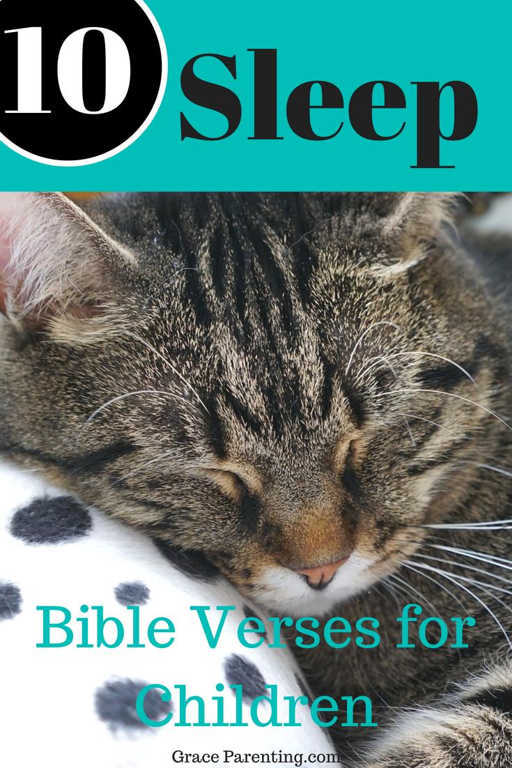 10 Sleep Bible Verses for Children