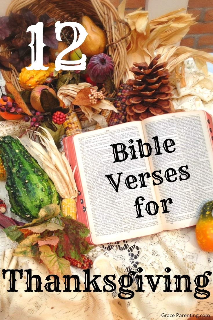 12 Bible Verses for Thanksgiving - 2017